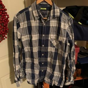 American Rag light plaid button-down long sleeve